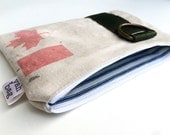 NORTH - Reconstructed vintage canada post mail bag small pouch