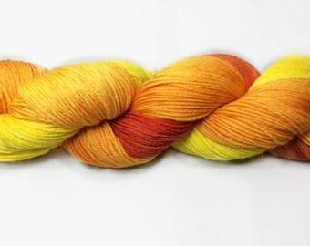 Sock Yarn,  Luxury Base, Hand Dyed Sock Yarn, Hand Dyed, Merino, Cashmere
