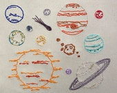 The Final Frontier Hand Embroidery Pattern. Classic Series.