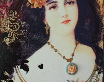 Gypsy Vintage Lady Decorative Wall Plaque Sign Hanging
