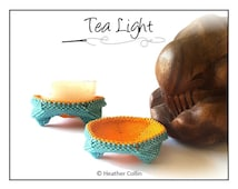 Beading Pattern, Instructions, Tutorial, Peyote Stitch, Delica Beads, Beaded Mini Candle Stand  Instant Download TEA LIGHT