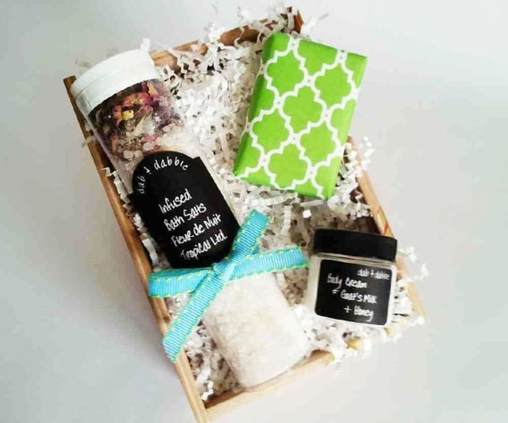 Wedding Gift Ideas For Coworkers: Coworker Gift Mini Spa Box Spa Box Bath Gift By DabAndDabble