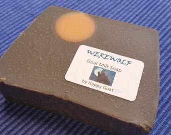 HALLOWEEN Soap Single WEREWOLF-Goat Milk Soap by Happy Goat
