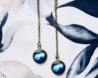 Butterfly Nebula Earrings, Galaxy Space Earrings, Butterfly Earrings, Cosmic Jewelry, Universe Jewelry, Outer Space Earrings, Gift For Her