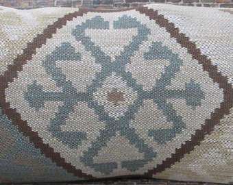 Limited  - Designer Pillow Cover -  12 x 22 - Lee Jofa Sundance Dusk - Tapestry - Southwest Ikat Kilm