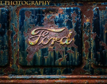 Rusty Ford Truck Vintage Old Rustic Car Fine Art Photograph Classic