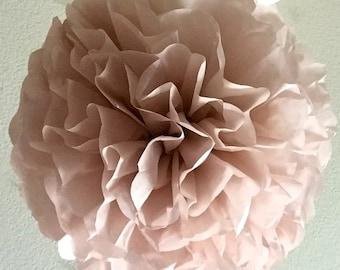 Tissue Paper Pom Pom - Dusty Pink - Rose Quartz - Vintage Pink -Muted Pink - Tissue Pom