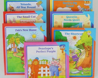 9 Beautiful Color Illustrated Children's Books Early World Of Learning Shortcut Cold Day Zak's New Home Penelope's Perfect Purple VERY NICE