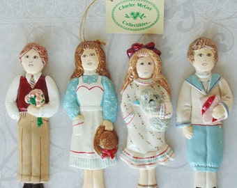 4 DOLLS Charlee McGee Collectibles Christmas Reproductions Inc Ornaments Wall Hangings Children's Room