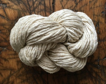 Rustic Handspun Undyed Silk Noil Yarn, Free USA Ship, Weaving, Knitting, Crochet, Dyeing