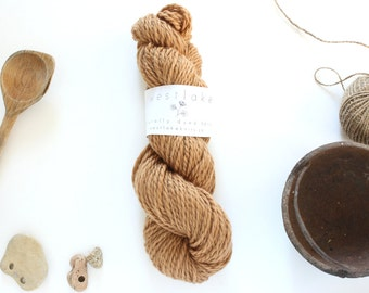 Caramel Colored Wool, Naturally Dyed Merino