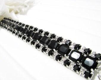 bridal bracelet, wedding bracelet, statement bracelet, rhinestone bracelet, bridal, bridesmaids jewelry, bridal jewelry, Weddings Bracelets