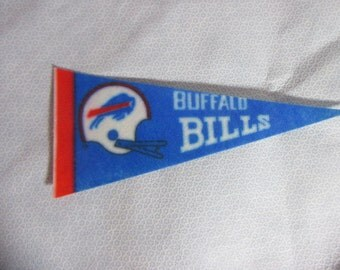 1970s NFL Miniature Felt Fan Pennant Buffalo Bills 8 3/4""