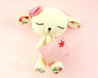 Lullaby Lamb Stuffed Doll - Plush, Gingermelon, Sleepy, Easter, Dark Pink