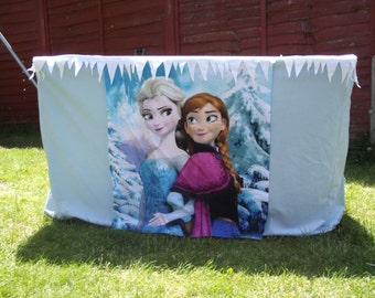 FROZEN disney princess themed playhouse tablecloth play tent fits IKEA rectangular table