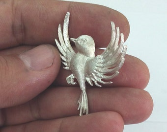 Silver Bird Pendant, Bird Jewelry, Bird Necklace, Handmade Bird Pendant, Gift For Her, Birthday Gift For Her,  Sterling Silver Bird Pendant
