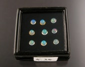 Opal cabs Parcel 535, nine 4mm to 4.25mm round Natural Ethiopian Opals