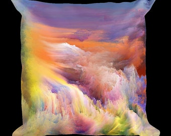 Colorful Paint Abstraction Designer Throw Pillow