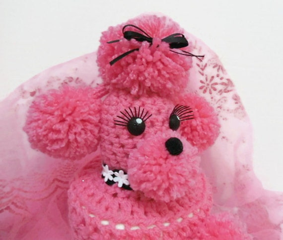 Kitsch Fifties Style Pink Toilet Tissue Poodle Cozy, Toilet Paper Roll Poodle Cozy