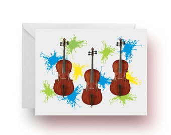 Stationery, Notecards, Music Notecards, Music Teacher Gift, Cello Note Cards, Music