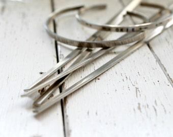 """Super SKINNY 6"""" x 1/8"""" NICKEL 16g Bracelet Blanks - 10 Pack - Nickel Bracelet Making Blank for Hand Stamped Cuff - Metal Stamping Blank"""