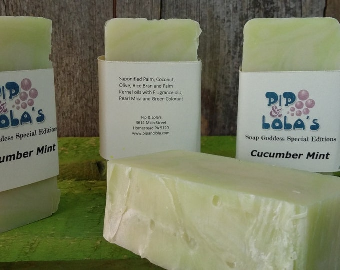 Cucumber Mint Barely-Scented Soap (Soap Goddess Special Edition)