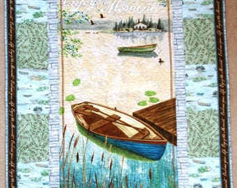 Enjoy The Moment Lap Size Wallhanging