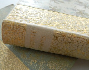 Favorite Poems from English and American Authors. Circa 1890. Victorian Library. Floral. Cottage.