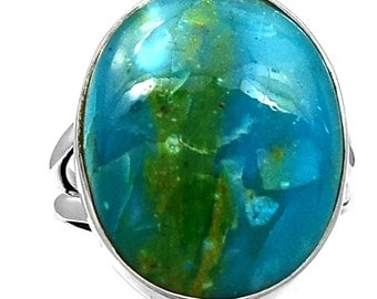 RESERVED, please do not purchase! Peruvian Blue Opal Ring in Sterling Silver. Size 6 3/4