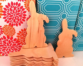 Unfinished Wood Bunny Cut Out Pack of 12