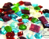 50 edible gems, sugar gems, sugar jewels for cakes, edible diamonds, edible jewels, Jewels For Cakes,  Cake Decorating, treasure chest cakes