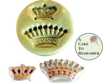 Crowns silicone mold for cake decorating, cupcake decorating, chocolate, hard candy, polymer clay, resin, or soap embeds mold  M1060