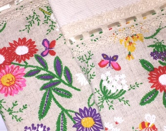 Vintage Floral Set of Kitchen Towels