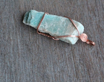 Amazonite Copper Pendant #5334