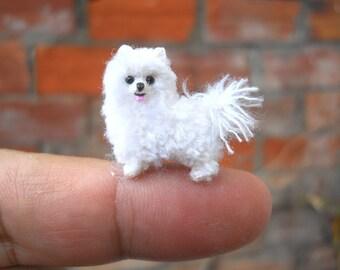 Miniature Teacup Pomeranian - Tiny Crochet Dog Stuffed Animals - Made To Order