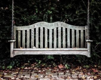 Rustic Home Decor, Weathered Bench Print or Canvas Wrap, Farmhouse Decor, Grey Green, Foyer Decor, Kitchen Decor, Entry Decor, Mudroom.