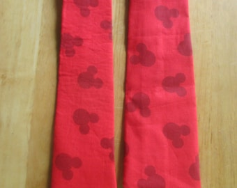 Mickey Mouse Red Tie  Great for a Disney Cruise Fish Extender  Princess Cruise Norwegian Cruise Holland America Cruise Celebrity Cruise