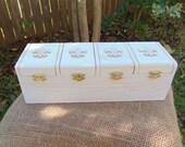 Desk Organizer Desk Caddy Tea Caddy Tea Box Jewelry Box Trinket Box