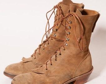 30% OFF Suede Hippie Granny Boots Women's Size 9 .5 D