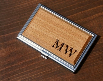 Personalized Business Card Holder, Custom Business Card Holder, Engraved Business Card Holder, Wood Business Card Holder