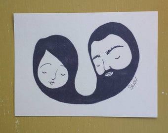 Beard Love Postcards - pdf download