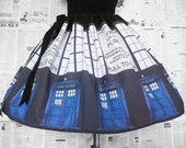 Police Box , Costume, Womens, Geek Dress, Ladies ,ORIGINaL Skirts From RoOBYS, Geek Clothes