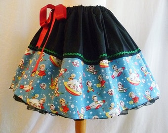 Womens Retro Clothing , Kitsch Clothing, Retro Style Skirt, Fun Adult Skirts by Rooby Lane