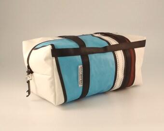 SMALL Duffle Bag, Travel Duffle, Sailcloth Duffle, Ultralight Luggage, Weekend Bag, Overnight Bag, Sail Bag, White Bag, Brown Bag, Blue Bag