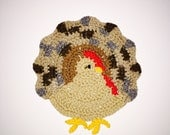 Turkey Decor, Thanksgiving Hot Pad, Thanksgiving Potholder, Thanksgiving Table Decor, Fall Hot Pad, Fall Table Decor, Hostess Gift, For Her