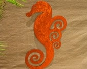 Seahorse Art Outdoor Metal Wall Art Sculpture Swirly Seahorse