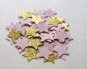 Twinkle Twinkle Little Star Confetti, Pink and Gold Party Decorations, Twinkle Confetti, Glitter Gold and Pink Confetti (TWIN-1)