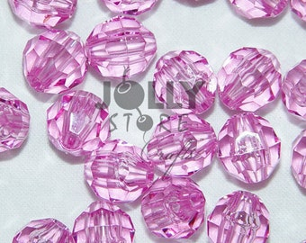 8mm Round Faceted Beads - Light Amethyst Translucent - 500 piece bag