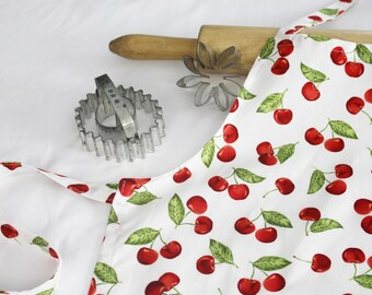 Cherries on White Child Apron