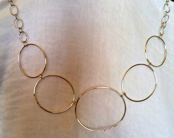Handmade Sterling Silver Large Oval Link Chain